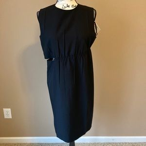 Helmut Lang Cutout Woven Mini Dress - size 6